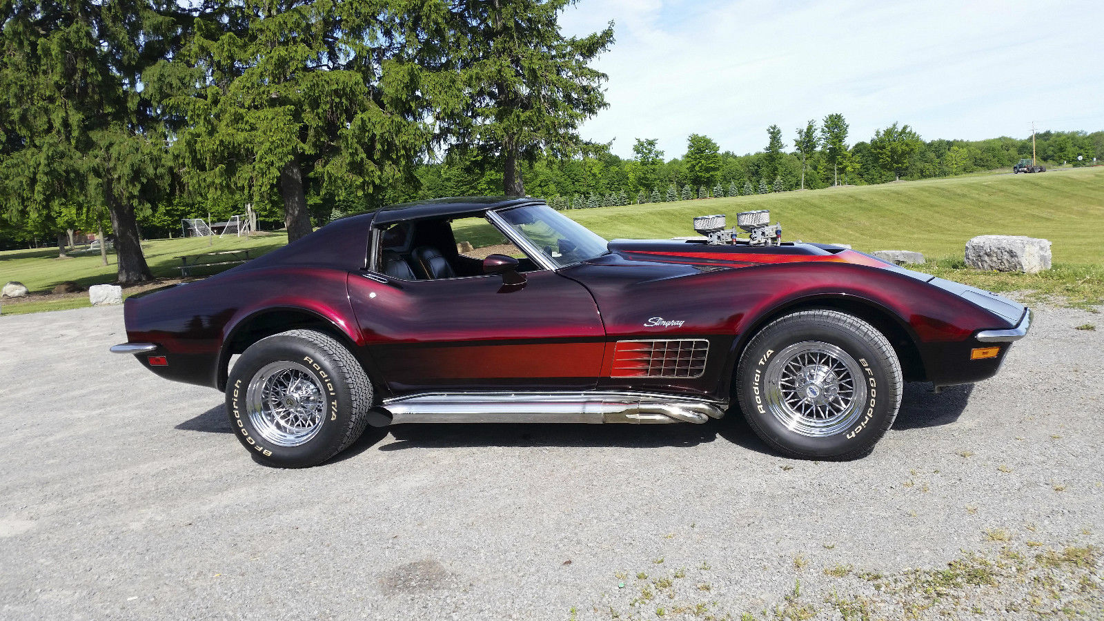 Ford Racing Apparel >> BangShift.com This 1970 Corvette Is The Right Kind Of Retro! Etched Glass, Killer Paint, And A ...