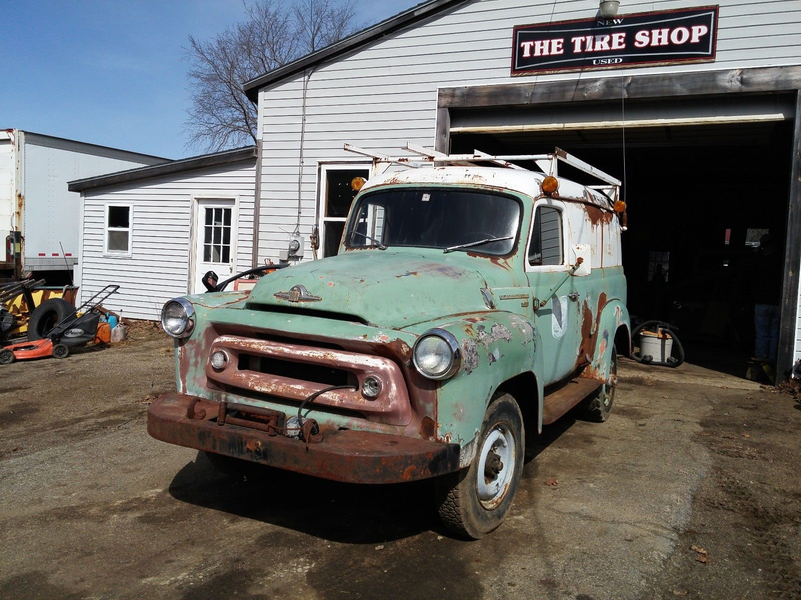 1957 International S 120 Panel Truck Chevy 4x4 Ebay Find This Is A Heavenly 4