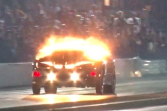 BOOM! The Black Hawk Firehawk Finds The Nitrous Oxide Limit For An LS1 At Ozarks Raceway Park!