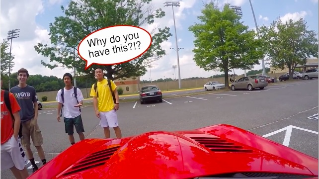 Dropping Jaws 101: Watch The Reactions This Kid Got When He Drove His Viper To School For The First Time!