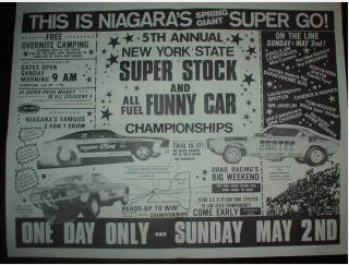 Classic Drag Radio Ad: A Fantastic Late 1960s Screamer For The Gold Cup At Niagra International Drag Strip