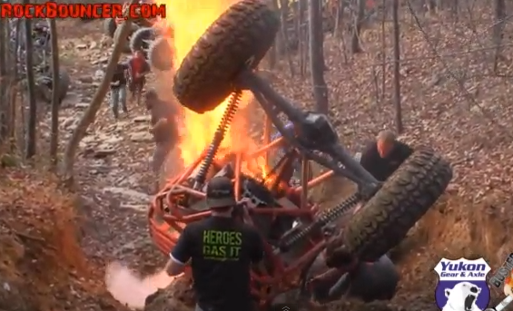 Flaming Wreckage Video: Watch A Crazy Off Road Buggy Roll, Burst Into Flames, and Then Burn To A Crisp In the Woods