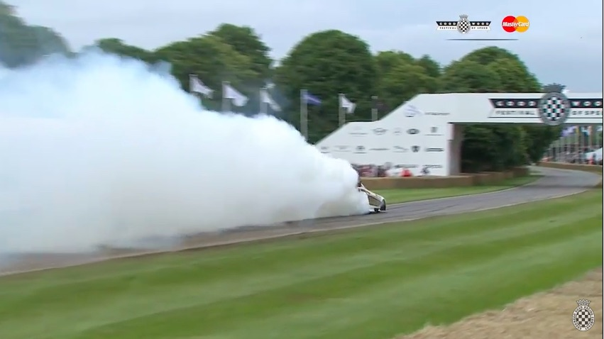 Oh, The Rolls Royce Burnouts Are Cute – This Video Of A Nitro Funny Car At Goodwood Beats All!