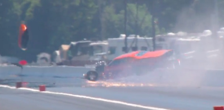 Watch Jay Cox Suffer A Big Wreck At The PDRA North/South Shootout – He's OK, Car Is Not