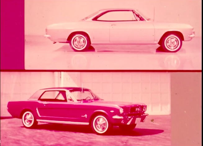 Historical Footage: Ford's Battle Tactics For Dealing With The 1965 Corvair…These Guys Were Going For The Throat!