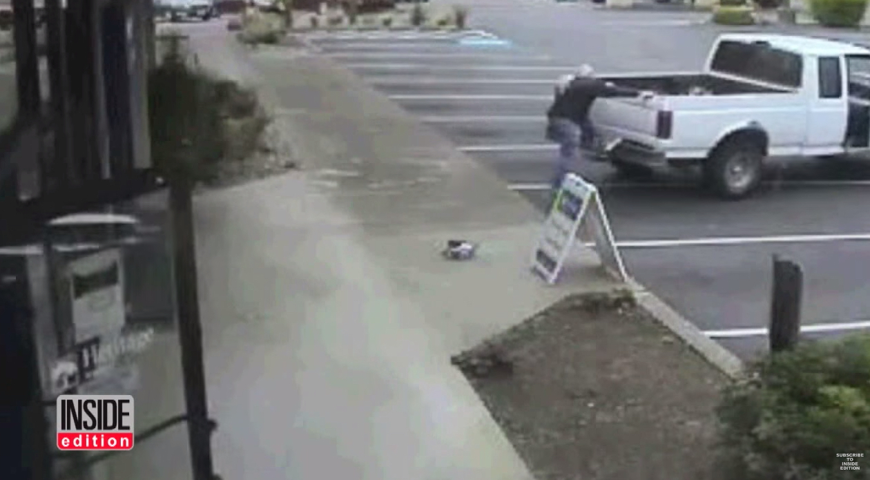 Video: 80 Year Old Ex-Drag Racer Jumps Onto Thieves Truck When They Steal His Bike