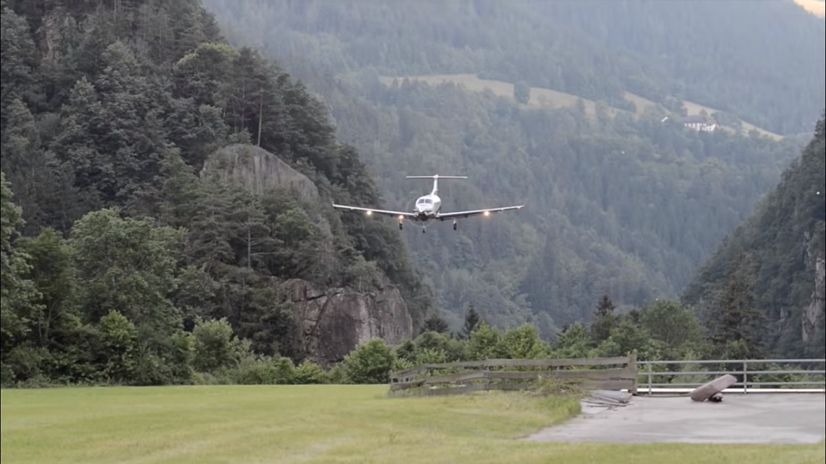 Scared of Flying? This Turboprop Coming and Going From a Mountainside Grass Strip May Not be For You