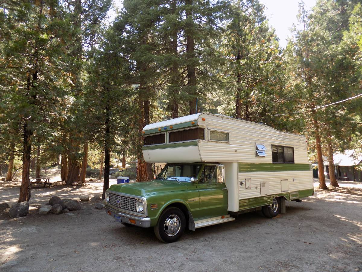 My Dream RV: We'd Live In This 1972 Roll-A-Long Motorhome Full Time With A Hot Rod In Tow!
