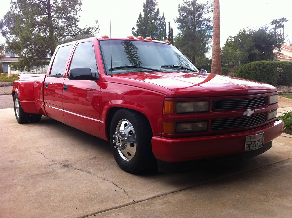 All Chevy chevy c3500 : BangShift.com Daily Dually Fix: Because This Slammed 1997 Crew Cab ...