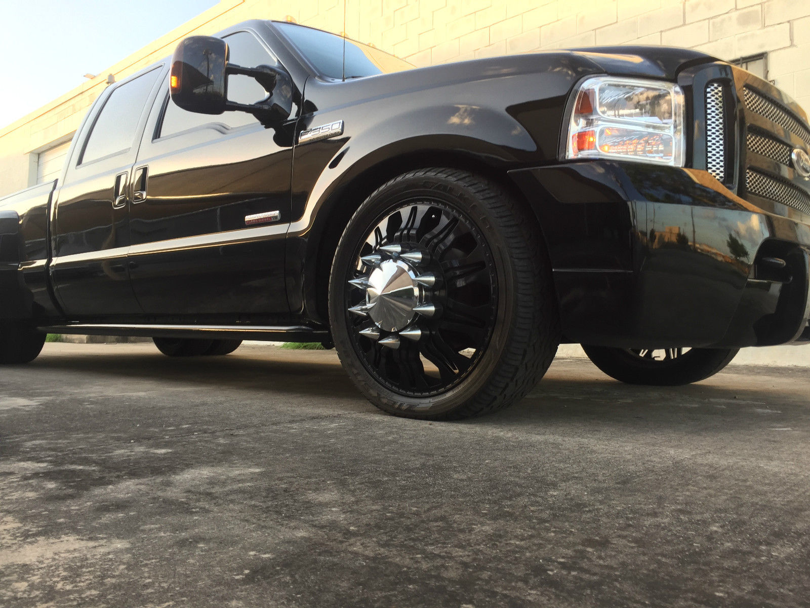 Ford Powerstroke For Sale >> BangShift.com Daily Dually Fix: This Bagged And Suicide Doored Ford F350 Powerstroke Crew Cab Is ...