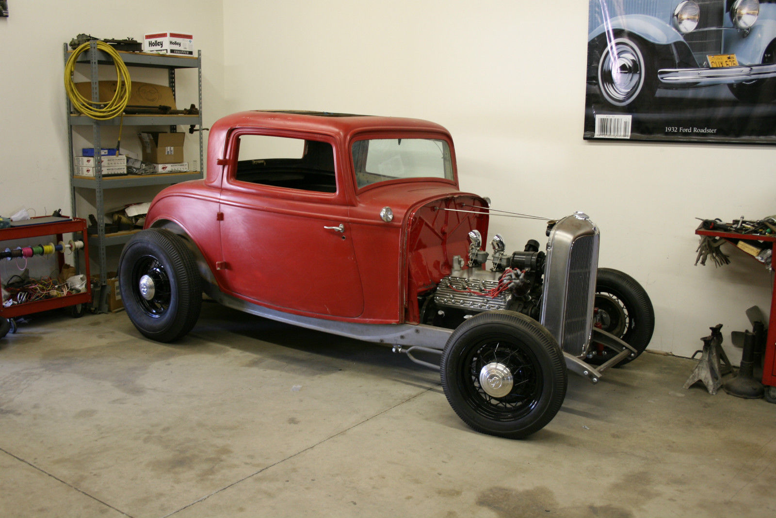 BangShift.com Genuine 1932 Ford Steel Three Window Coupe Project For ...