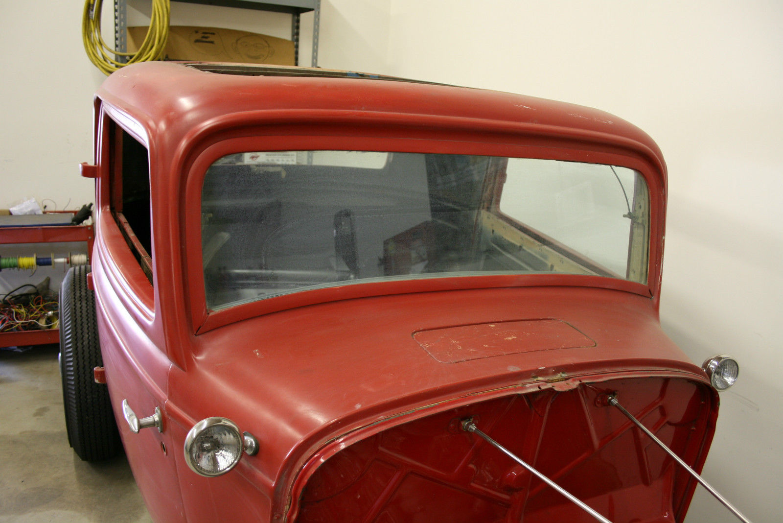 Genuine 1932 ford steel three window coupe for 1932 ford 5 window coupe steel body for sale