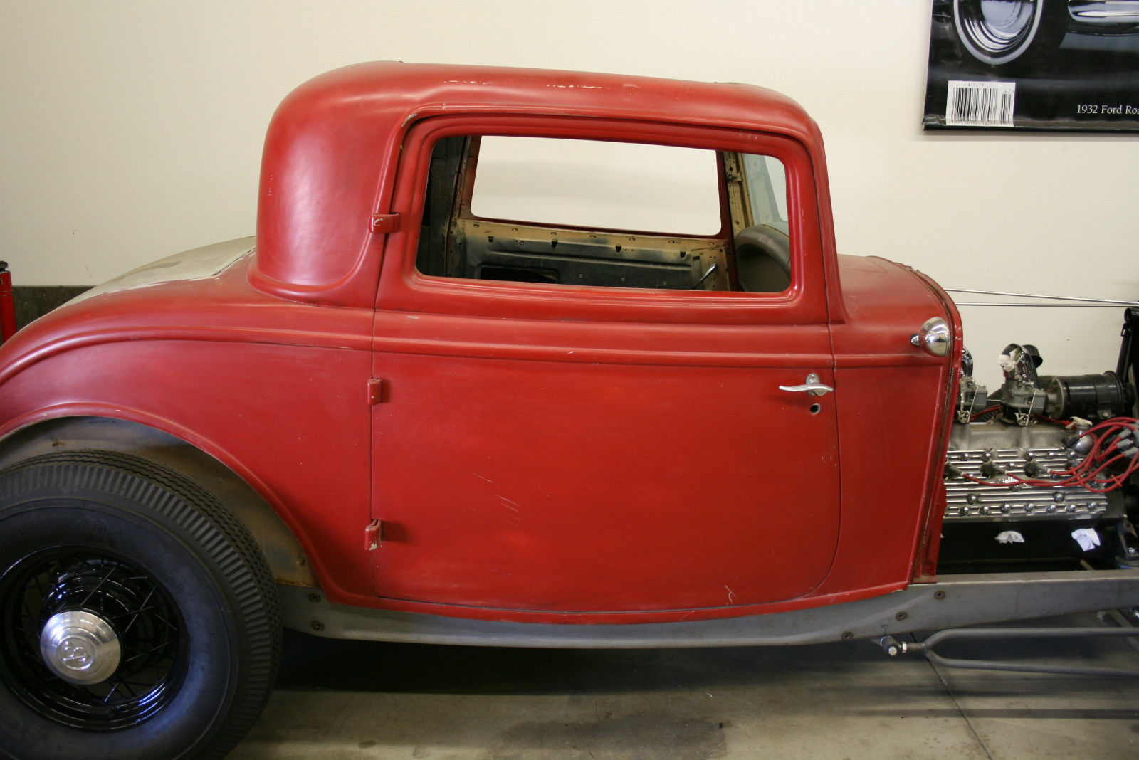 Genuine 1932 ford steel three window coupe for 1932 ford 3 window for sale