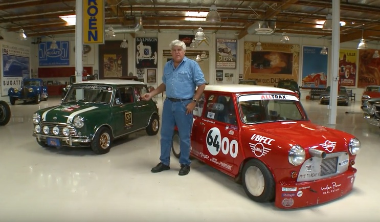 Jay Leno Shows The Classic Mini Some Love At The