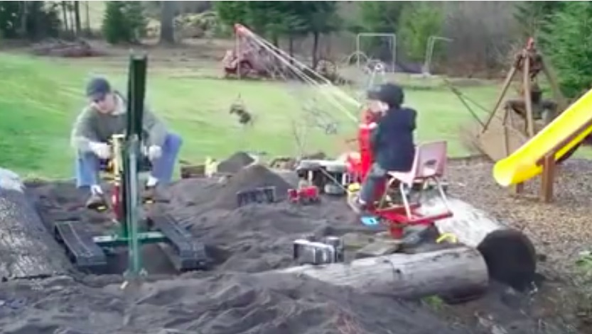 The Most BangShifty Sand Box Ever! Watch This Father and Son Play On Their Dragline and Shovel