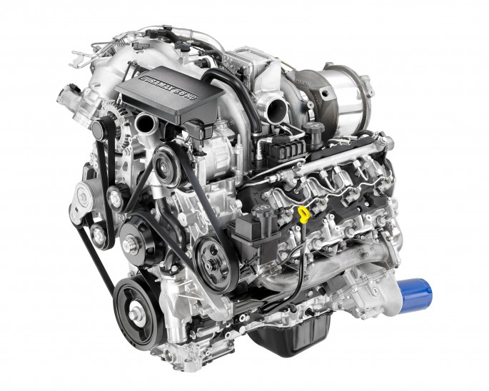 The all-new 2017 Duramax 6.6L turbo diesel features more torque and horsepower and increased strength cylinder block, heads, crankshaft, connecting rods and pistons. The Duramax features a state-of-the-art oil separator and cold-start system among other features.