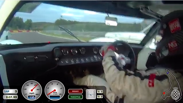 Ride In A Screaming 289 Powered GT40 As It Tears Around Spa And Makes An Insanely Tight Pass
