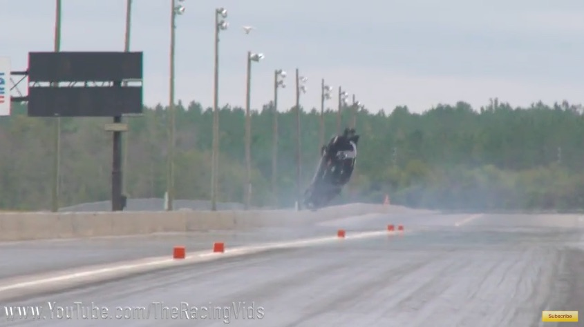 Watch The Massive Marty Stinnett Mustang Wreck At No Mercy 7 – He Walked Away