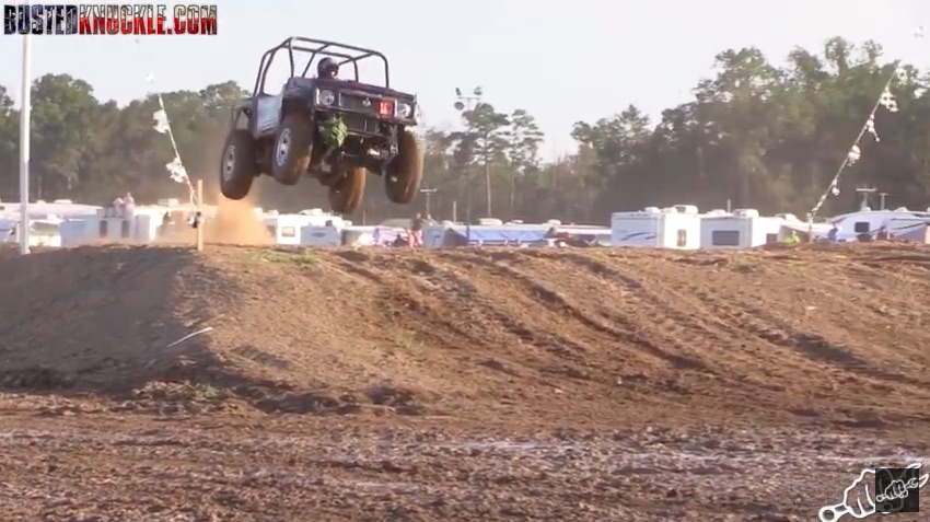 Watch Some High Flying, Bone Jarring, Gnarly Looking Tuff Truck Racing At Dennis Anderson's Off Road Park