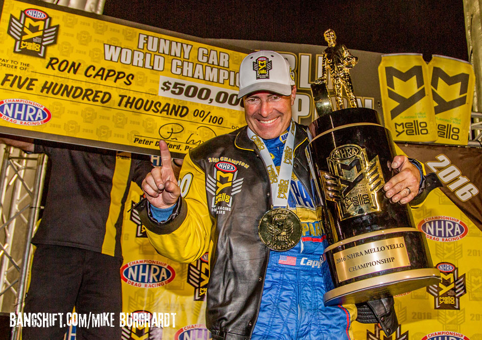 Finally A Champion; Ron Capps Is Your 2016 Funny Car Champ!