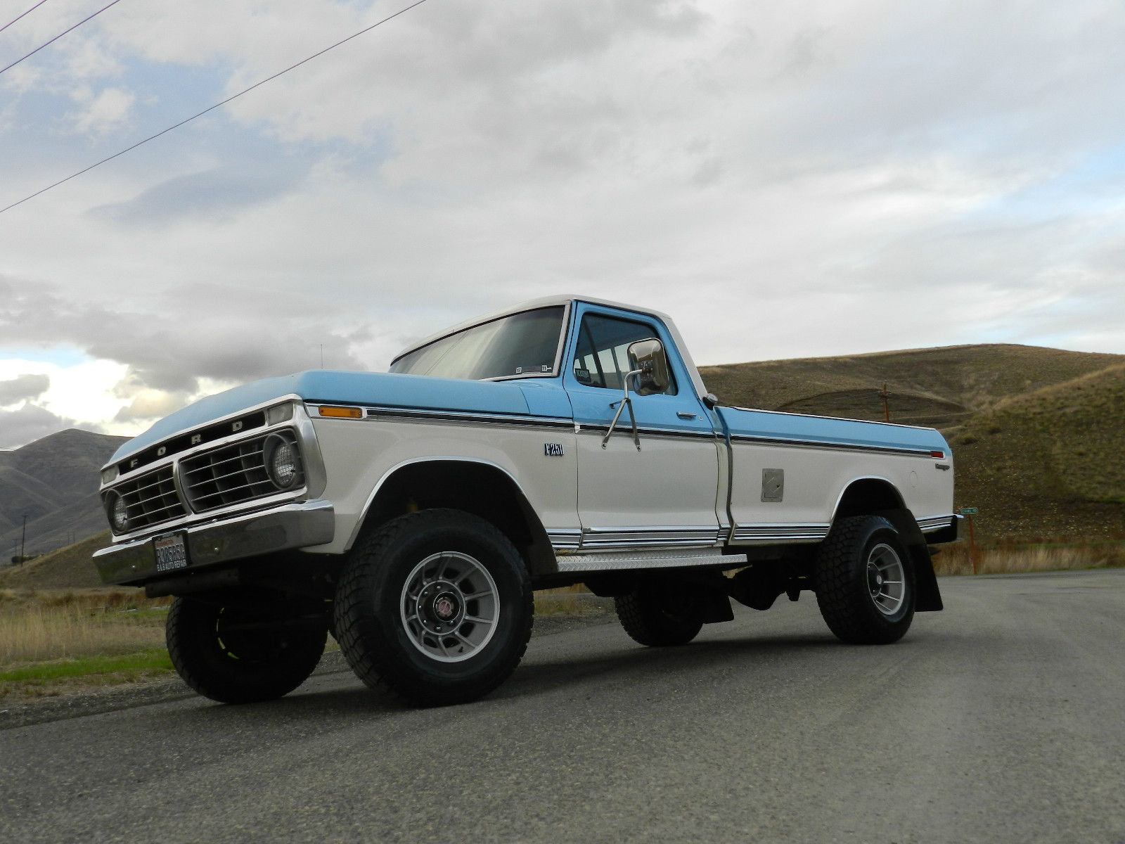 Click here to see the full ad for this 1973 f 250 pickup truck