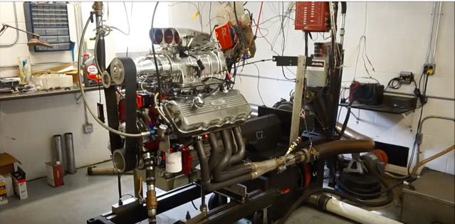 Video: Watch A 427ci Blown Ford SOHC Motor Make 880hp On The Dyno