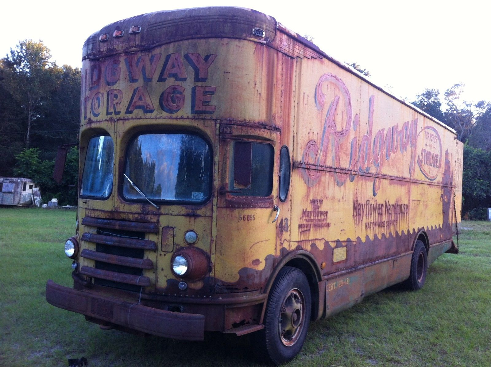 Bangshift Com This 1953 Twin Coach Mayflower Moving Van Is
