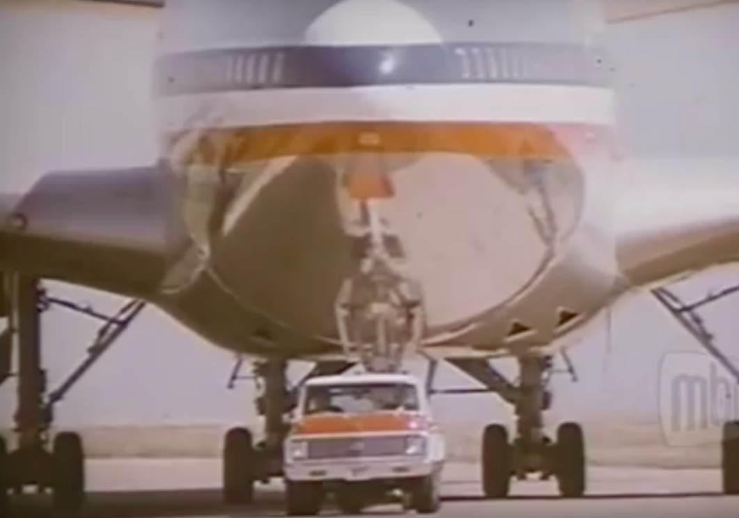 Classic Chevy Truck Commercial: Watch A 1972 Chevy C20 Pull A 747!