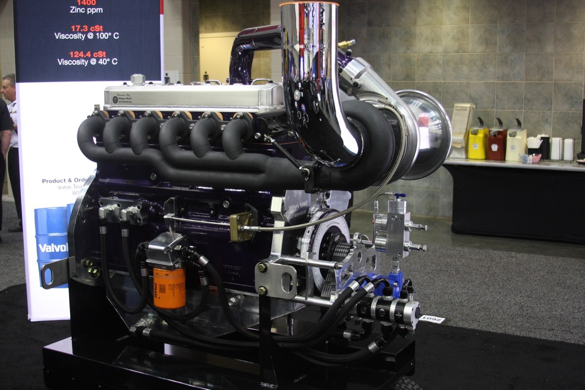 PRI 2016: My Favorite Engine In Indy Was This Wipe Out Enterprises DT466 Pulling Tractor Engine