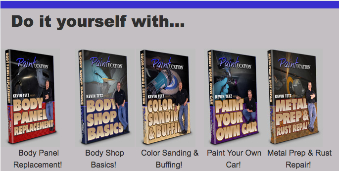 Give The Gift Of Knowledge For Christmas! Kevin Tetz Paintucation DVD's Help You Do Body And Paint Right