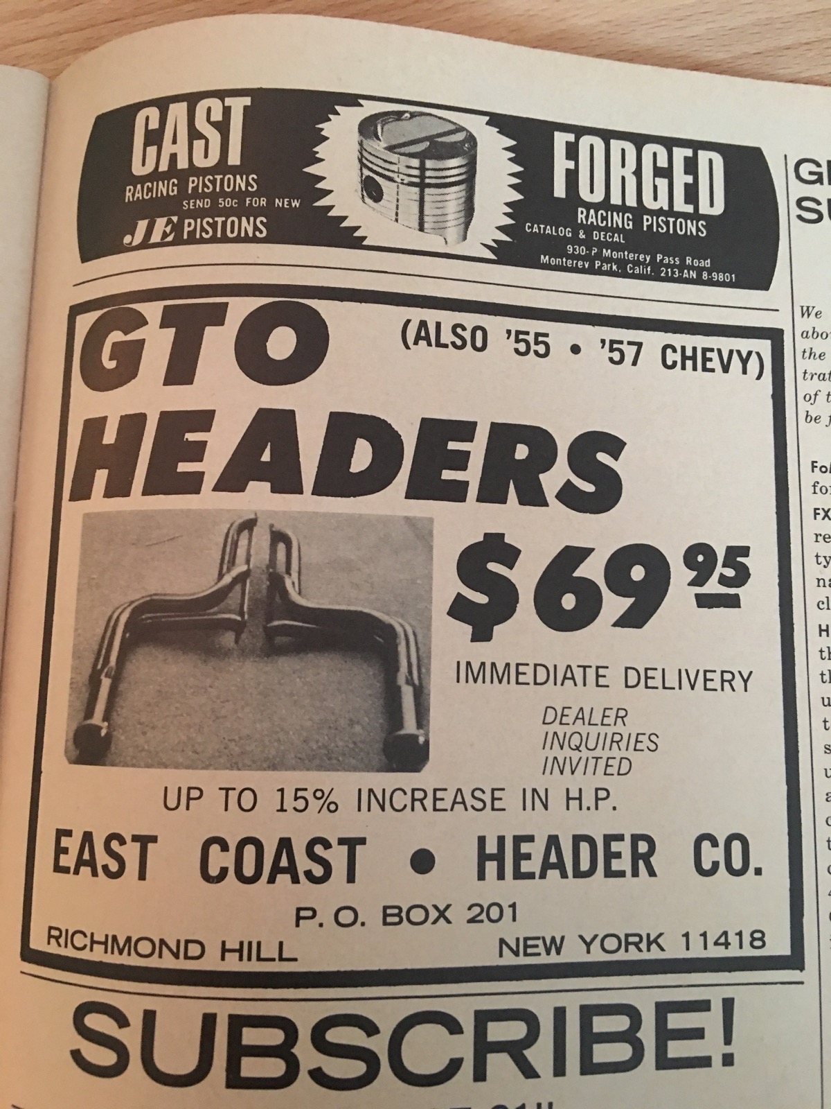 Cool Gearhead History: Ads From The Pages Of Super Stock And Drag Illustrated Circa 1964-1966