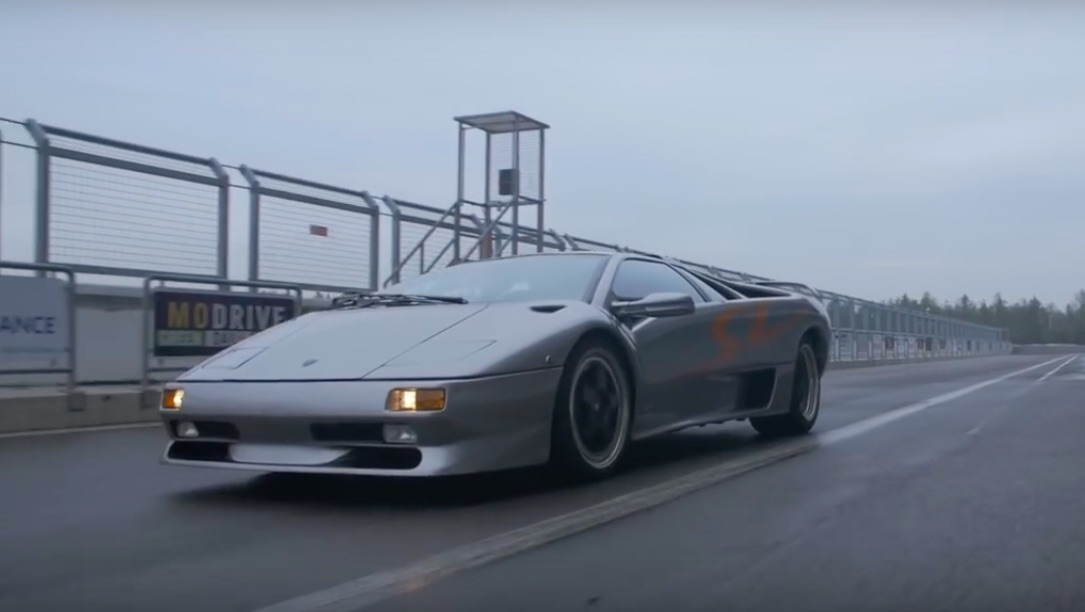 Bangshift Com Take A Ride In A Lamborghini Diablo Sv V 12 Rear