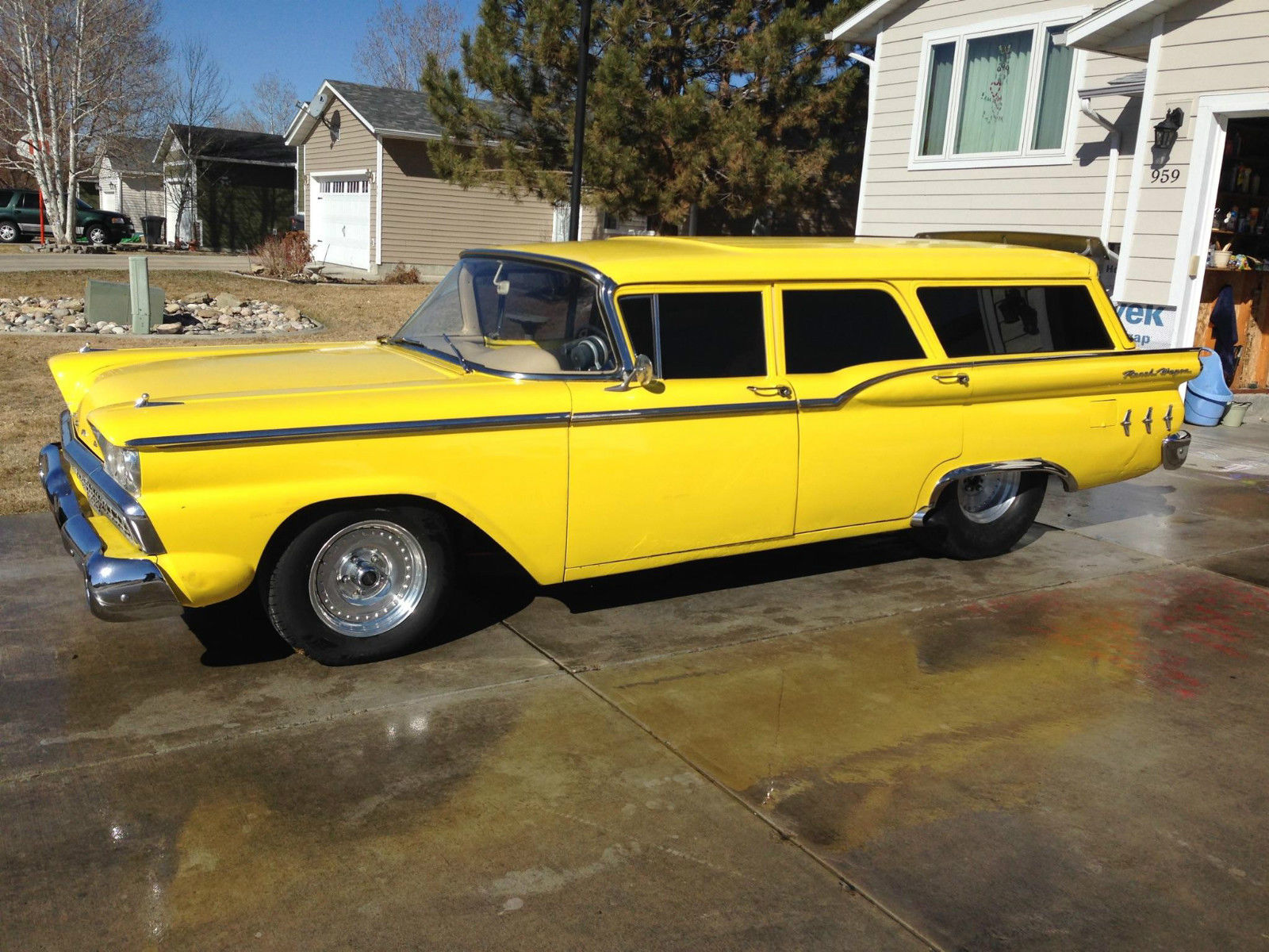 Large Barge: This 1959 Ford Wagon Has A Twin Turbo 557ci Big Block Ford And Big Meats Out Back