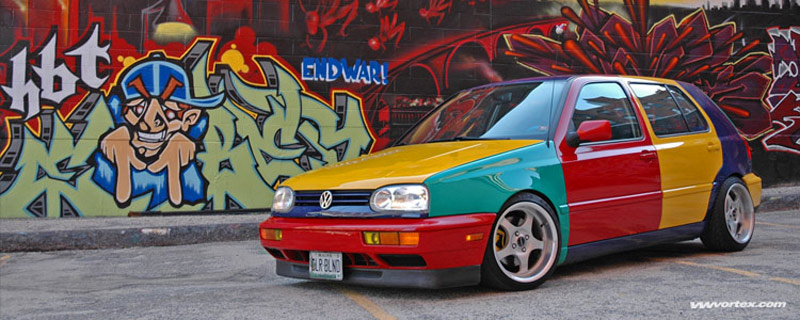 Yes, They Actually Built This: The Story Of The Volkswagen Golf Harlequin Edition