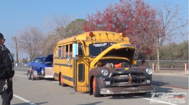 This Car-Hauling Chevrolet School Bus Is Great For All Of The Right Reasons – Compound Turbo Cummins And Good Range!