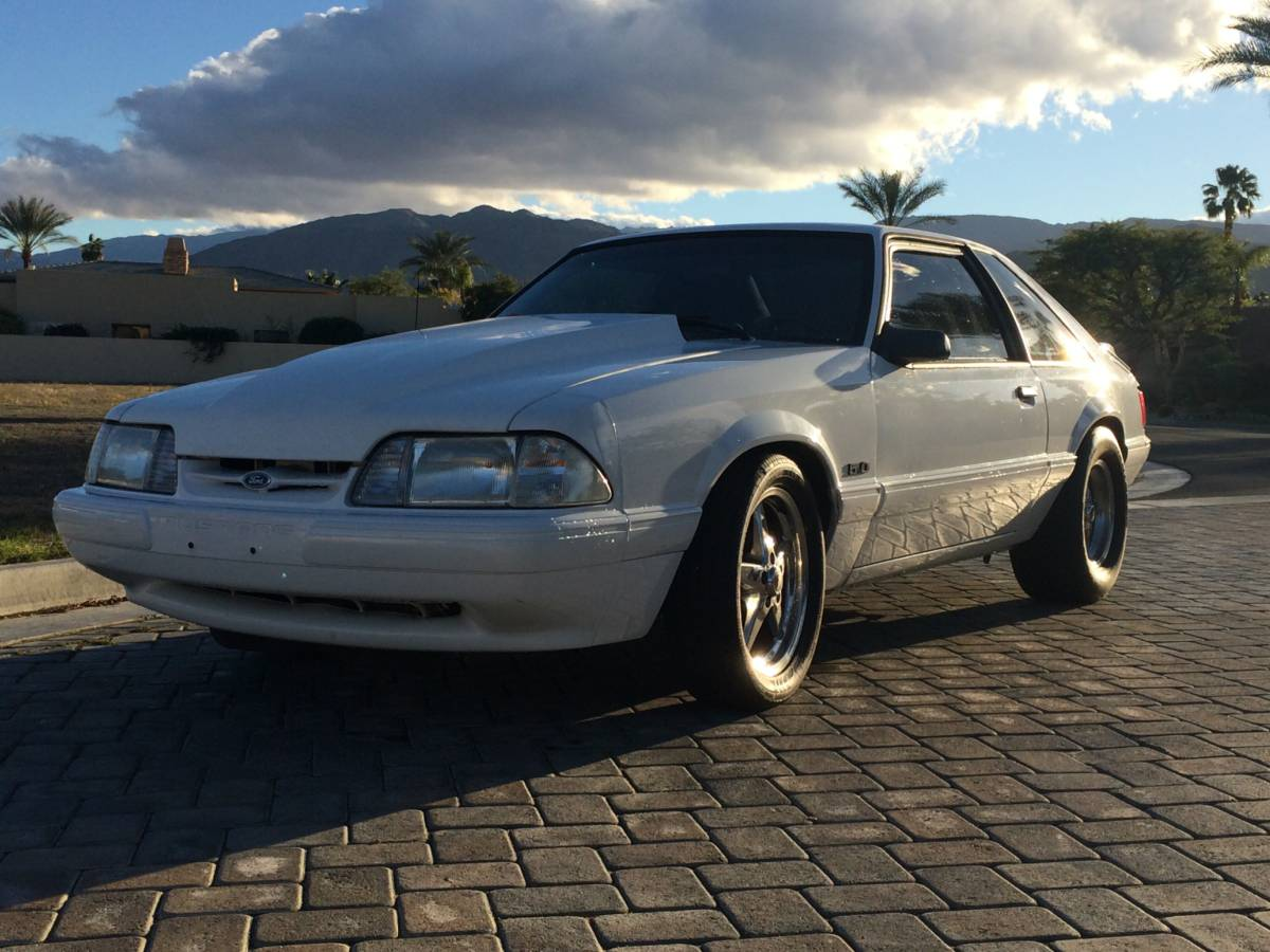 this fox body mustang sleeper is a roll cage and overdrive away from street car. Black Bedroom Furniture Sets. Home Design Ideas