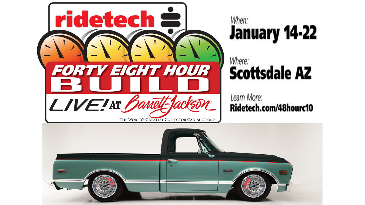 RideTech's 48-Hour C10 Is Going Together LIVE At Barrett-Jackson Scottsdale!