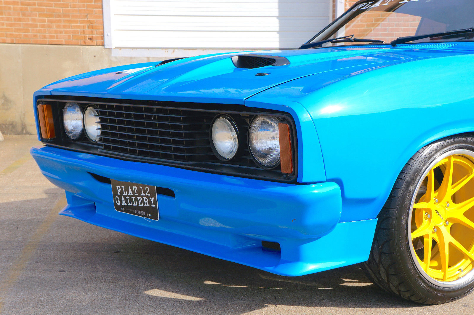 "Money No Object: This 1976 Ford Falcon Has Us Seeing All Sorts Of Blue – Ford Blue, Grabber Blue, ""That's A Cop"" Blue…"