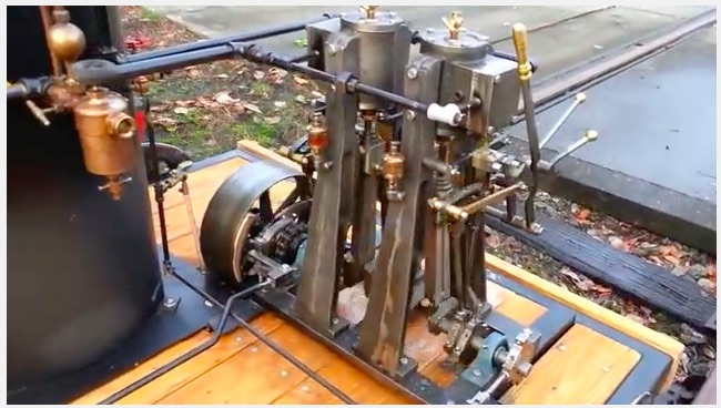 BangShifty Video: This Homebuilt Steam Powered Rail Speeder Is Incredible