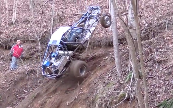 "These Two-Wheel-Drive ""Rail Buggy"" Builds Are Sweet! Watch Them Climb A Wooded Hill Like A Goat!"