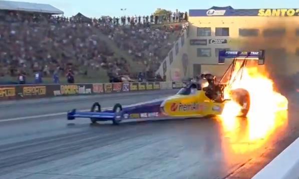 Watch Peter Xiberras' Top Fuel Crash At Sydney Dragway – Lots Of Fire!