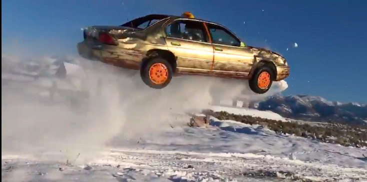 And He Stuck The Landing: This High-Flying Chevrolet Lumina Just Might Be The Coolest One Out There!