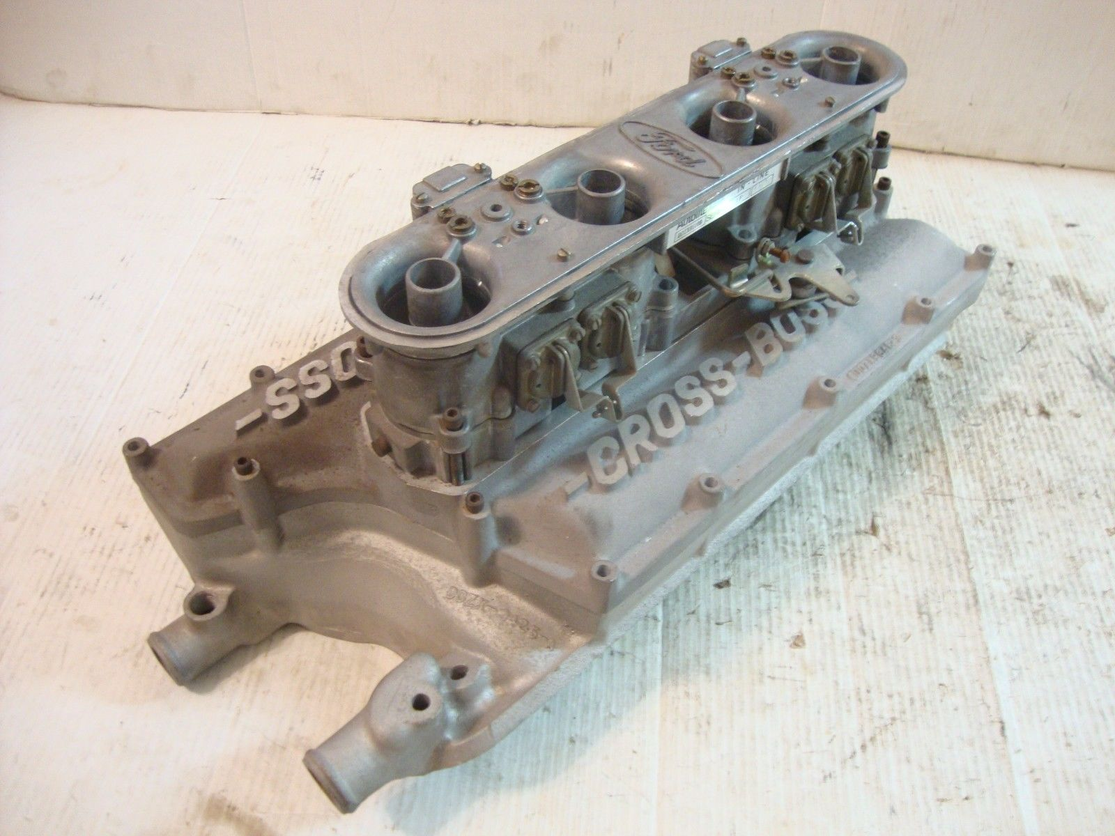 Awesome Induction: Autolite Inline Four Barrel and Cross Boss Intake For Sale!
