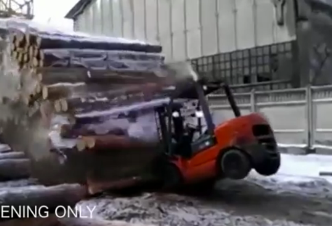 Wild Russian Video: Watch This Sawmill Worker Cut A Cable And Nearly Kill Everyone