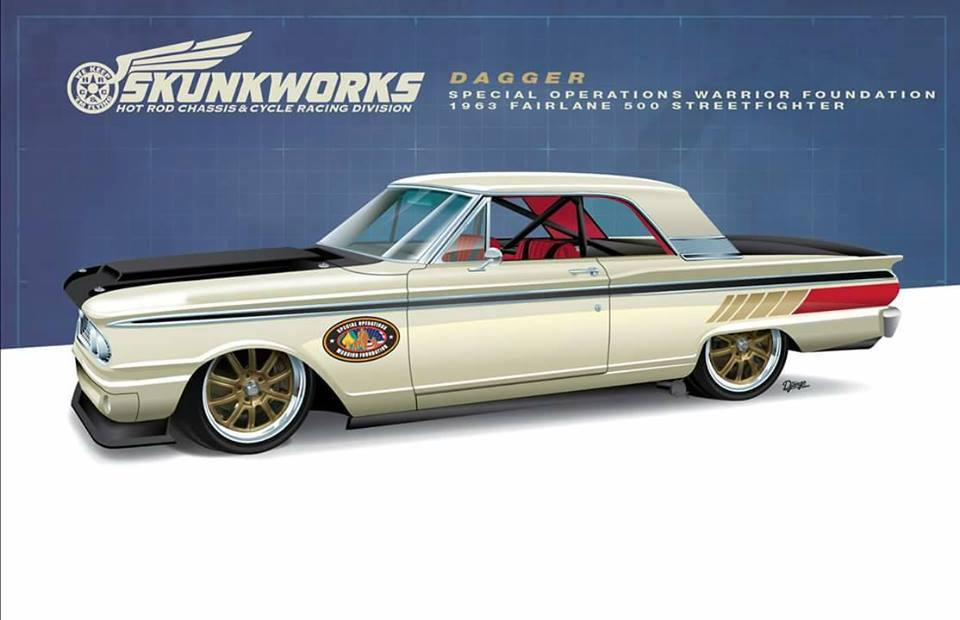 Cool Car For A Good Cause: Hot Rod Chassis and Cycle Reveals The Dagger Fairlane
