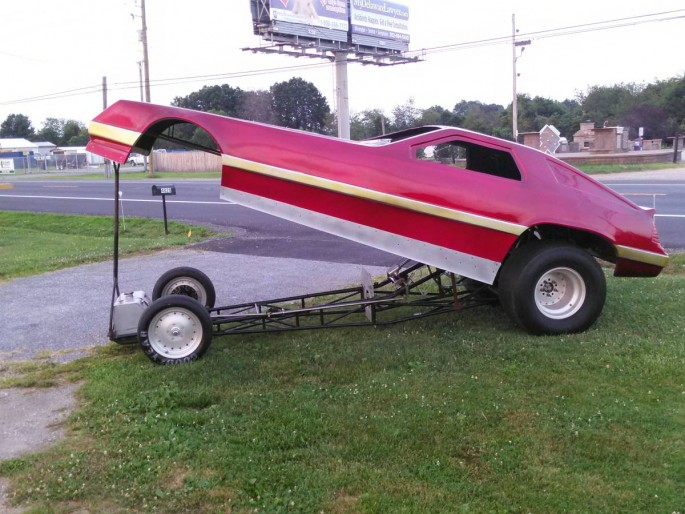 Bangshift Com Want To Race A Nostalgia Funny Car This Dodge Daytona Funny Car Rolling Chassis