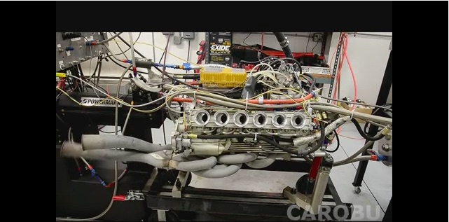 Video: Watch This Vintage Ferrari Flat 12 Engine Scream, Shoot Fire, and Turn 10,000 RPM