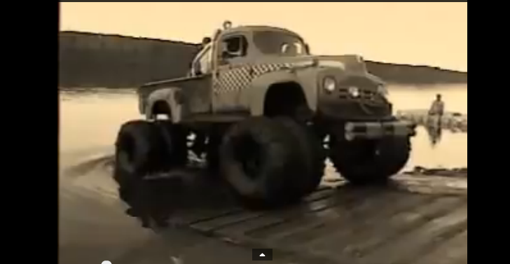 A Giant 1951 International Truck Capsizes in a Pond!