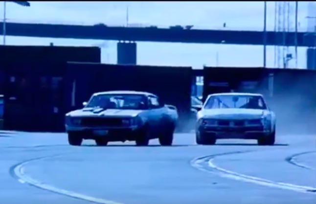 "Movie Car Chase: A 1971 Aussie Charger Vs. A NASCAR Oldsmobile Square Off In The Movie ""Metal Skin""!"