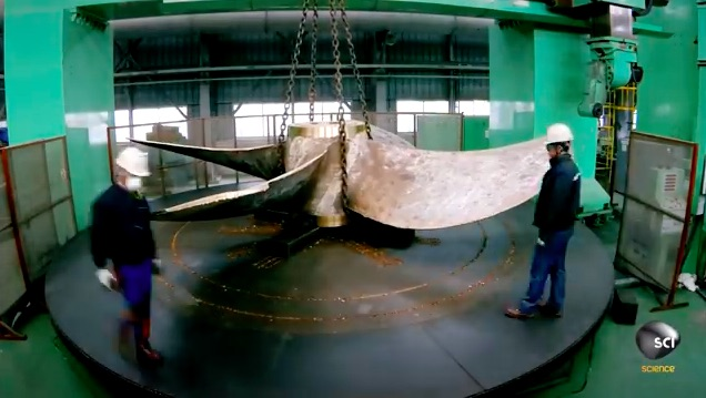 Video On The Manufacturing Of A Ship Propeller Is Awesome